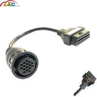 obd tanılama aleti kablosu toptan satış-OBD2 16pin OBD Uzatma kablosu s-ca-nia için Kamyon için 16 Pin OBD2 Bağlayıcı uyumlu TCS CDP Teşhis aracı