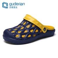 12d1a1f84c79 GUDERIAN 2019 New Mens Summer Shoes Beach Sandals Jelly Shoes Men Outdoor  Leather Sandals For Men Slippers Sandalias De Hombre