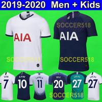 mayo mavi 19 toptan satış-S - 4XL Tottenham hotspur 2019 2020 Spurs SON LUCAS KANE 19 20 ev beyaz Futbol Formaları DELE üçüncü yeşil ERIKSEN Futbol tişörtleri çocuklar kitleri uzak mavi maillot de futbol