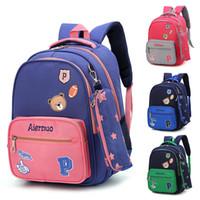 kız okul sırt çantaları satılık toptan satış-ZIRANYU Sıcak Satış Ortopedik Sırt Çantası Moda Kız Okul Çantası Su Geçirmez hafif Kızlar Sırt Çantaları baskı çocuk