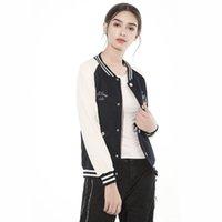 faculdade rápida venda por atacado-Venda rápida eBay colégio vento roupas de beisebol 2019 camisola de inverno lazer moda ortografia alfabeto jaqueta