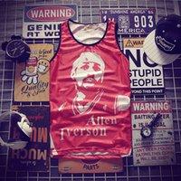 hip hop masculinos venda por atacado-Hip-hop Impressão Tops de Verão dos homens 3d Mesh Vest Fit Fino Sem Mangas Camisetas Musculação Vestuário