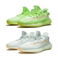 Wholesale art green blue for sale - Group buy 2019 V2 Kanye West True Form Hyperspace Clay Static Reflective Mens Running Shoes Beluga Cream White Tint Women Sport Sneakers