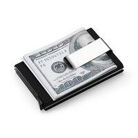 alüminyum kartvizitler toptan satış-Yüksek Qualitid erkek Cüzdanlar Kredi Otomatik İş Alüminyum Cüzdan Kart Setleri Nakit Klip Tutucu C19041201