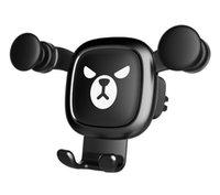 держатели для сотовых телефонов оптовых-Автомобильный держатель для мобильного телефона Gravity cell Phone KickStand Универсальный держатель для крепления к вентиляционному отверстию для смартфона Автомобильный держатель для мобильного телефона