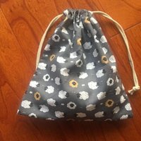 Wholesale black sheep gifts resale online - Cotton Drawstring Pouch Home Organized Party Gift Bag Animal Sheep Black Head g