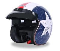 Wholesale chopper half helmets resale online - DOT Vintage Motorcycle Helmet High quality Chopper Bike helmet Retro Capacete Casco M L XL available JIEKAI