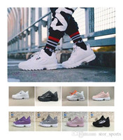 Wholesale raf simons sneakers online - 2018 New Raf Simons x Disruptors II Women Mens Running Shoes raf simons ozweego Sawtooth Casual Dad shoes Designer Sneakers