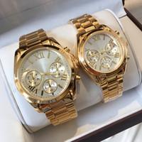 relojes amantes de lujo al por mayor-2018 marca especial nueva calidad superior reloj de las mujeres de moda reloj casual dial grande hombre relojes de pulsera relojes de lujo amantes reloj clásico reloj dama