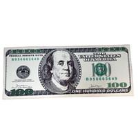porta adornada venda por atacado-MHAIXM NOVO Dólar Criativo Tapete Tapete Dólar Bill $ 100 Impressão Tapete Banheiro Cozinha Não-Slip Runner tapetes para livin