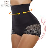 bragas de cintura alta para adelgazar al por mayor-Comercio al por mayor de las mujeres de cintura alta de control de la barriga Fajas Body Shaper de encaje bragas sin costuras adelgazante Cincher Corset Waist Trainer