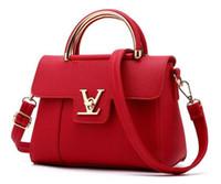 glitter totes großhandel-Mode frauen handtaschen Leder Clutch Bag Damen Totes Frauen Messenger Bags Sac Main Femme Berühmte Einkaufstasche Handtaschen aus Leder