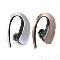 rauschunterdrückung kopfhörer drahtloses bluetooth großhandel-Drahtloses Bluetooth V4.1 Headset Kopfhörer Kopfhörer Ohrbügel CVC 6.0 Geräuschunterdrückung Sport Freisprecheinrichtung mit Mikrofon für iPhone Samsung