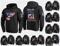 hoodie da bandeira preta venda por atacado-Personalizado Mens Louis Blues bandeira dos EUA Hoodie preto Jerseys 21 Tyler Bozak 86 Nikita Soshnikov 49 Ivan Barbashev Hockey hoodies camisolas