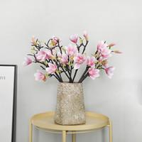 orquideas rosas artificiales al por mayor-53 cm Artificial Mini Orquídea Flores Rosadas Blancas Fake Moth Flor Flor de la Orquídea para la Boda En Casa Decoración de DIY Real Touch Decoración Del Hogar Flore