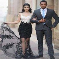 ingrosso abiti islamici bianchi neri-Haute Couture Combinazione di colore V Neck Donne lunghe Musulmano islamico Kaftan Abaya elegante abito casual da sera bianco e nero abito formale del partito
