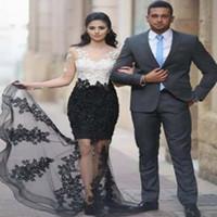siyah abayalar toptan satış-Haute Couture Renk Kombinasyonu V Boyun Uzun Kadın İslam Müslüman Kaftan Abaya Zarif Akşam Gündelik Elbise Beyaz ve Siyah Örgün Parti kıyafeti