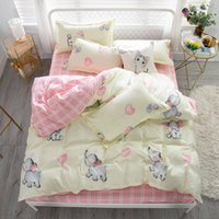 Wholesale cute twin bedding sets resale online - Cartoon Elephant Bedding Set King Size Cartoon Cute Duvet Cover Kids Queen Full Twin Single Comfortable Bed Cover with Pillowcase