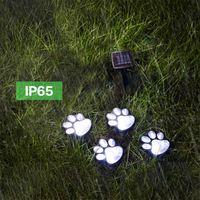 lumière optique à fibre optique achat en gros de-LED lumière solaire de pelouse extérieure étanche enterré lumière paysage éclairage festival décoration lumière lampe de piste pour animaux de compagnie