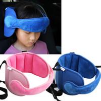 Wholesale baby stroller safety online - Kids Sleeping Head Support Pad Pillows Pram Safety Car Seat Sleep Positioner Stroller Baby Head Fastening Belt