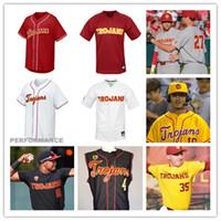 cj jersey venda por atacado-Personalizado USC Trojans Baseball Jersey Kyle ferido Blake Sabol perseguição Bushor CJ Stubbs Jamal O'Guinn Connor Lunn Isaac Esqueda USC Trojans Jersey