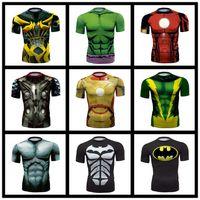 schnelle trockene sportdruckhemden großhandel-Avengers Captain America 3D-Druck Paar T-Shirt Damen T-Shirt Herren Sommer Kurzarm Casual T-Shirt Laufen Reiten Sport Schnell trocknend