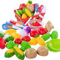 juguetes de cocina para niños al por mayor-Juego de niños Casa Cocina Juguetes Cortar frutas y verduras Niños y niñas Bebé Cortar Cortar verduras Juego