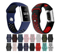 Wholesale bracelet silicone wristband sports resale online - Watch Band For Fitbit Charge Outdoor Sport Soft Silicone Replacement Band For Fitbit Charge3 Wristband Bracelet Watch Strap