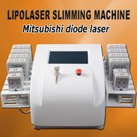 máquina de láser para quemar grasa al por mayor-Lipolaser 2019 pérdida de peso láser lipo equipos para adelgazar Fast Fat Burning Remover Body adelgazante para salón