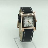 ingrosso i nomi di marca gli uomini di lusso di orologi-Nome Luxury Brand Herm orologi militari donna vigilanza di modo orologi del quarzo degli uomini orologi sportivi in pelle casual Men Watch Relogio