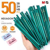 Wholesale 2h pencils for sale - Group buy Andstal M G HB B H Wood Pencil with FREE Sharpener Wooden Lead Graphite Pencil with eraser for school Stationery supplies