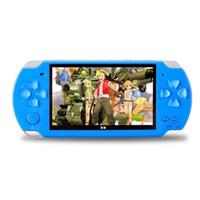 consola de jogos 4.3 venda por atacado-4.3 Polegada Tela Grande Portátil PMP Game Player Real 4 GB 8 GB Construir em Jogos de Vídeo Handheld Game Console para Crianças Retro Game Player