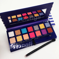 Wholesale multi color palette for sale - Group buy New Arrivals Makeup Riviera color eyeshadow palette with brush beauty shimmer matte eye shadow hills palette