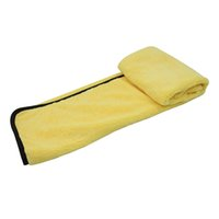 Wholesale big towels resale online - Large Size Microfiber Car Cleaning Towel Cloth Multifunctional Wash Washing Drying Cloths cm Yellow Big Promotion