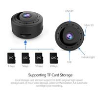 gece görüş sesli mini kamera toptan satış-Ev Güvenlik MİNİ WIFI 1080P IP Kamera Kablosuz Küçük CCTV Kızılötesi Gece Görüş Hareket Algılama SD Kart Yuvası Ses APP