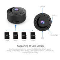 nachtsicht audio mini kamera großhandel-Home Security MINI WIFI 1080P IP-Kamera drahtlose Kleine CCTV-Infrarot-Nachtsicht Bewegungserkennung SD-Karten-Slot Audio APP