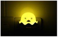 entwirft kinder nachtlicht großhandel-Baby-LED-Nachtlicht niedliches kreatives Design gelbe Ente geformt Stecker mit automatischer Dämmerung zum Morgengrauen Lichtsensor für Kinderzimmer Wohnzimmer