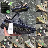 Wholesale box shoes size resale online - Size With Box Stock X Oreo Israfil Linen Desert Sage Marsh Reflective Kanye West V2 Mens Running Shoes Women Trainers Designer Sneakers