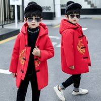 Wholesale chinese baby boy clothing for sale - Group buy New Chinese Style Children s Cotton Jacket Boy Winter Costume Tang Suit Baby Windbreaker Embroidery New Year s Clothing Coat Outwear