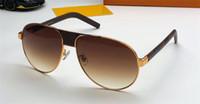 tapınak güneş gözlüğü toptan satış-Yeni moda tasarımcısı güneş gözlüğü 1179 pilot çerçeve deri baskılı tapınaklar popüler tarzı en kaliteli en çok satan uv400 koruyucu gözlük