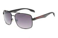 sıcak moda adam güneş gözlüğü toptan satış-Sıcak 2019 Yeni Moda Vintage Sürüş Güneş Erkekler Açık Spor Tasarımcısı Lüks Ünlü Erkek Güneş Gözlüğü Güneş Gözlükleri Kılıfları Ve Ile