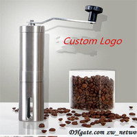 Wholesale Custom Logo Coffee Grinder Bean Mills Manual Stainless Steel Portable Kitchen Grinding Tools Perfumery Cafe Bar Handmade coffee mills