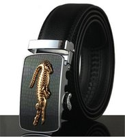 couro, crocodilo, cinto venda por atacado-Cintos de Negócios de moda Homens Automático Fivela Jeans De Luxo Cintura Designer De Crocodilo Fivela Cinto De Couro Cintos De Couro De Alta Qualidade