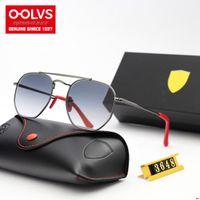 maßgeschneiderte sonnenbrillen großhandel-Style (5) Großhandel RAYSF 3648 Ferreri Customized Top Fashion Design Sonnenbrille Ausgeglichenes Glas Gradient Lens Schaffell-Fuß-Abdeckung