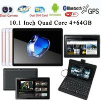 ingrosso compresse 8gb-Tablet PC da 10,1 '' Android 6.0 Octa Core 4 + 64GB Dual SIM HD Wifi + 3G Phablet
