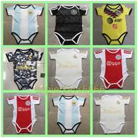 camiseta de fútbol bebé al por mayor-Nueva camiseta de baby soccer 6-18 meses 2019 2020 Argentina camiseta de bebés México 19 20 Madrid Ajax camiseta de bebés 6-18 meses
