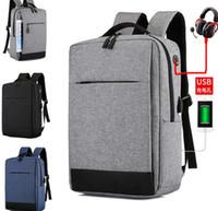 kadın için bilgisayar sırt çantası toptan satış-Çok İşlevli Laptop Çantaları Saf Renk Bilgisayar Sırt Çantası Iş Çantası Sırt Çantası Kadın Erkek Polyester Fermuar Su Geçirmez Acces