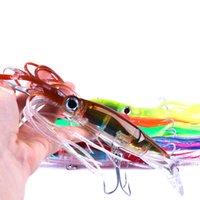 nuevos señuelos de trolling al por mayor-Recién llegado Pesca de peces de manga Tackle 14cm 40g Pulpo Señuelo de calamar Plástico duro Señuelo de pesca Trolling Bionic isca Artificial Minnow BAIT