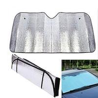 araba güneş gölge katlanabilir toptan satış-Uygulamalı Katlanabilir Araba Cam Siperlik Kapak Blok Ön Arka Pencere Güneş Gölge Araba Güneşlik BBA140 100pcs