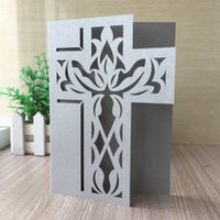 Wholesale cutting paper for wedding invitation for sale - 35pcs New Laser Cut Pray Cross Pearl Paper Invitation Card For Wedding Engagement Mother day Brithday Party Graduation